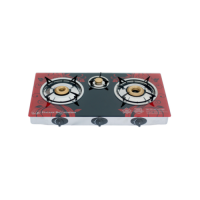 India Burners Glass Table Top 3 Burners: GT-723SI