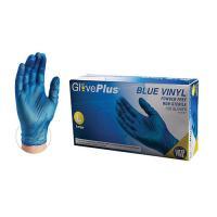 Blue Vinyl Gloves (Med / Lar) Powder Free (VIN-GLO-BM)