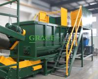 Pe/pp rigid flakes and film materials washing line