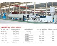 Large diameter HDPE water supply pipe, gas pipe extrusion production line