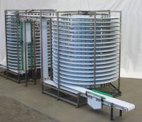 Twin spiral cooling tower
