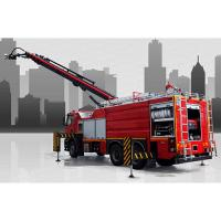 Telescopic boom fire trucks