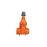 Ul/fm non rising stem gate valves,ductile iron, fire protection, resilient wedge, grooved, f-702-w