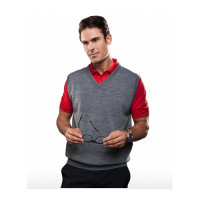 V-neck mens knit vest