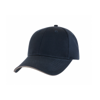 SANDWICH TRIM WASHED COTTON CAP