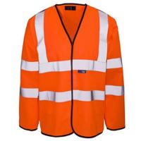 Flame retardant long sleeved waistcoats etf1503 (etf1503wc0a)