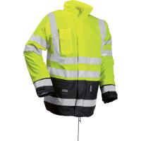LR32 Microflex Hi-Viz winter rain jacket