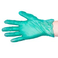 Green Vinyl Gloves