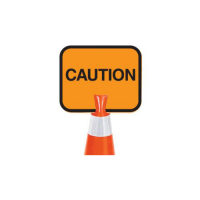 Traffic cone sign