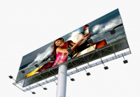 Unipole billboard / horizontal double-sided