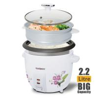 TOUCHMATE Rice Cooker with Steam Cooker - 900W, 2.2 Litre (TM-RC102)_5