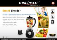 TOUCHMATE Smart Blender with Grinder - 300W, Multi-Function Option: Blending, Grinding Made Easy, White (TM-BL2002JW)_5