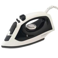 Touchmate steam iron with ultra glide sole plate - 1600w, temperature control & auto-off pilot light, 360º cord outlet, black (tm-sti202b)
