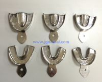 Impression Trays-Stainless no hole plates three-peice Collects