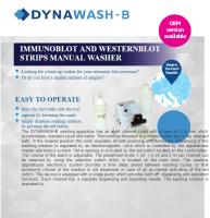 DYNAWASH-B Immunoblot and Westernblot Strips Manual Washer