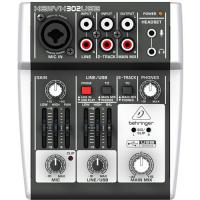 Behringer 5-Input Mixer with XENYX Mic Preamp and USB Audio Interface, Gray