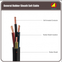 General rubber sheath soft cable