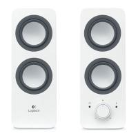 Logitech z200 Multimedia Speakers-2.0 -SNOW WHITE - 3.5MM- UK (980-000813)