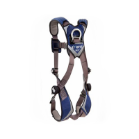 1113010  vest style harness with aluminum tech-lite back d-ring and duo-lock quick connect buckles
