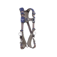 1113085  harness with aluminum front, back and side d-rings, locking quick connect buckles