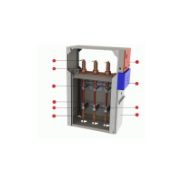 Umhd 02 rotary disconnector+fuse combination transformer protection cubicle