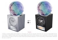 Desktop clock with crystal globe TC-671
