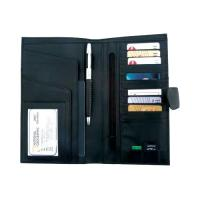 Leather Travel Wallet- Cheque book Holder S3501