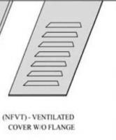 CABLE TRAY COVER (NFVT)- VENTILATED COVER W/O FLANGE