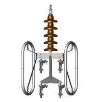400 kV Single Suspension for Quad (4) Conductors (Drop Type)
