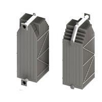 Corner cut graded  radiator