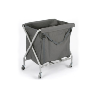 Folding linen bag trolleys