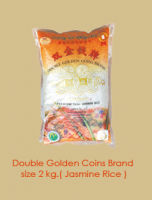 Double golden coins brand size 2kg. (jasmine rice)