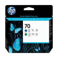 HP C9408A BLUE & GREEN PRINTHEAD #70