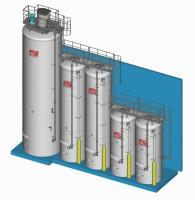 Flour silos and weighing systems