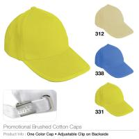 Promotional brushed cotton cap  (bcc-331)