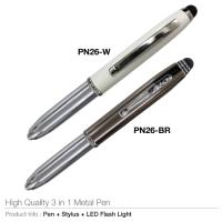 High quality 3 in 1 metal pen (pn26)