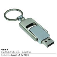 Flip style metal usb flash drive (usb-4)
