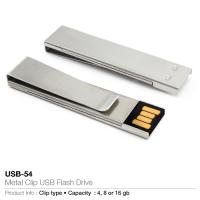 Metal clip usb flash drive (usb-54)