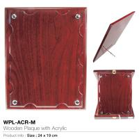 Wooden-plaque with acrylic wpl-acr-m
