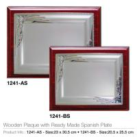 Wooden Plaque with Ready Made Spanish Plate 1241-AS-BS