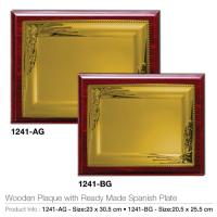 Wooden Plaque with ready Made Spanish Plate1241-AG-BG