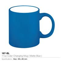 11oz Color changing Mug- Matte Blue - 167-BL