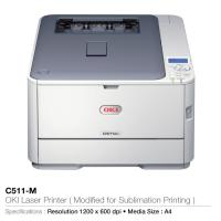 Oki laser printer- modified for sublimation printing- c511-m