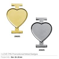 I LOVE PIN Promotional Metal Badges