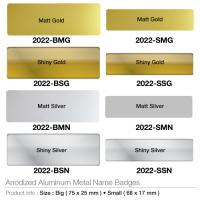 Anodized Aluminium Metal Name Badges- 2022