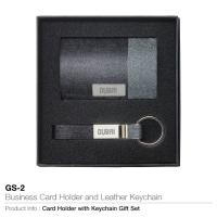 Business card holder and leather key chain gs-2
