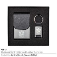Business card holder and leather key chain gs-3