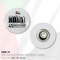UAE Aluminium Badges with Epoxy Coating- NDB-10