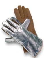 JUTEC Sebatan Leather/Aluminium Coated Glove Brown