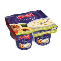 Pascual Creamy Peach and Passion Fruit